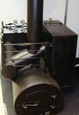 Печь в баню из 500 трубы