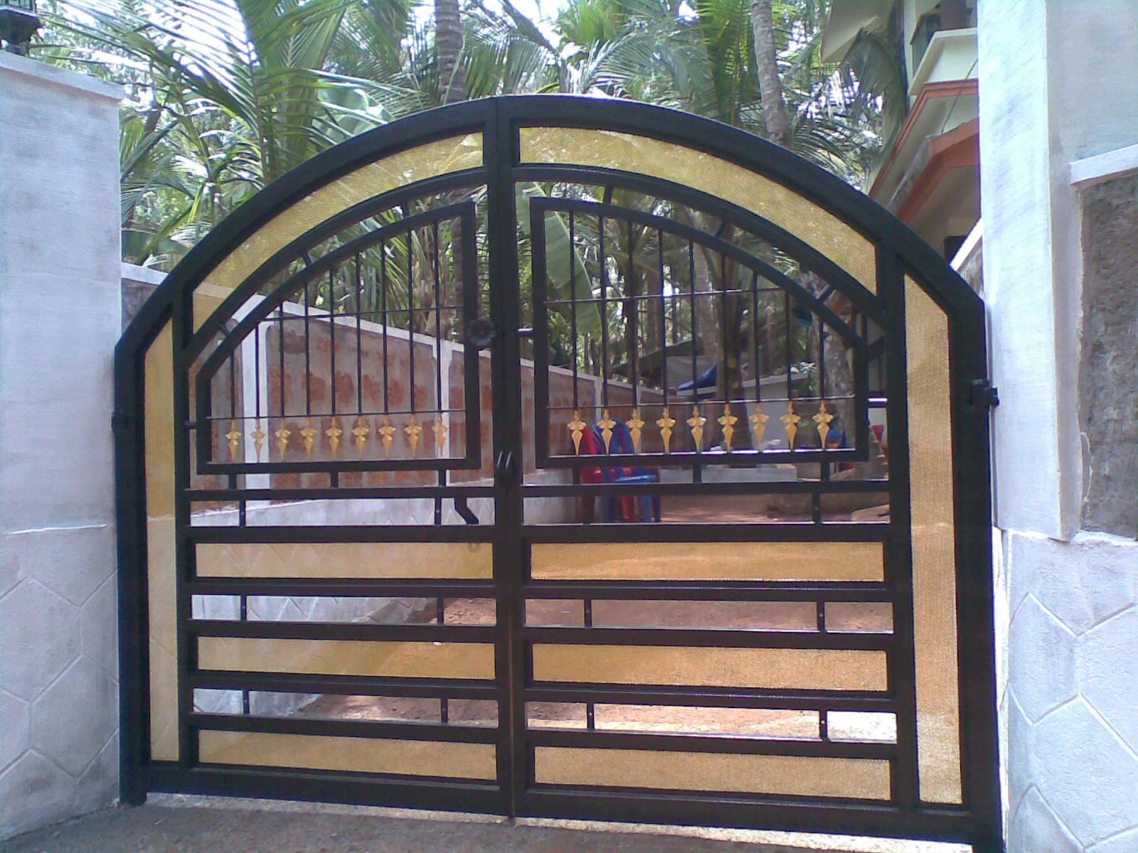 Дизайн ворот фото