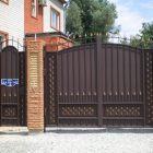 металлические ворота 5